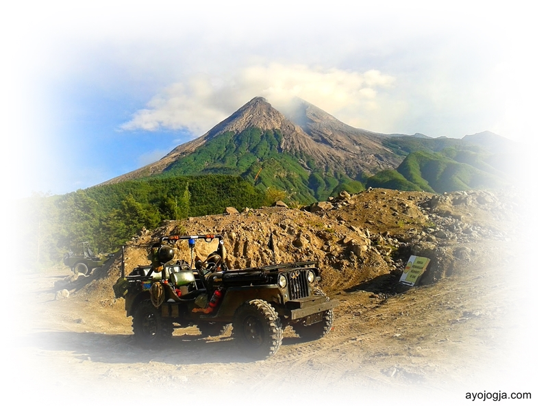 Jeep Willys for Lava Tour in Mount Merapi National Park